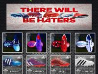"""PES2013阿迪达斯""""THERE_WILL_BE_HATERS""""球鞋包"""